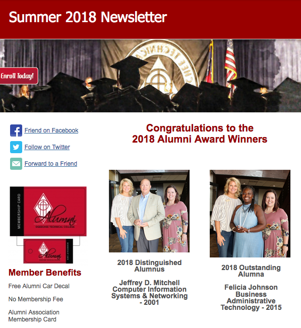 Summer 2018 Alumni Newsletter