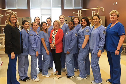 Dental Assisting Students on Field Trip