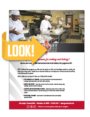 Culinary Arts Program Flyer